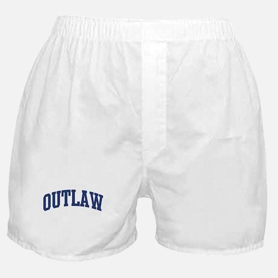 OUTLAW design (blue) Boxer Shorts