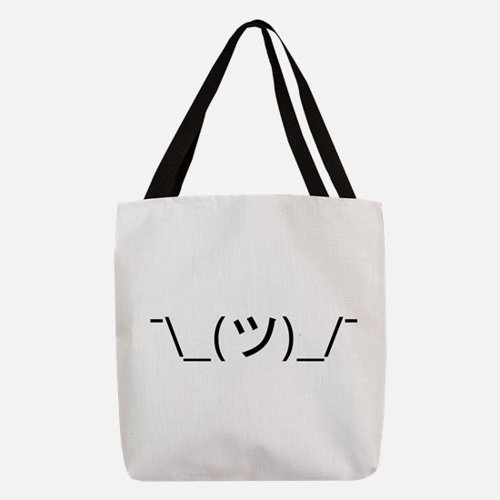 Shrug Emoticon Japanese Kaomoji Polyester Tote Bag