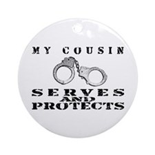Serves & Protects Cuffs - Cousin Ornament (Round)