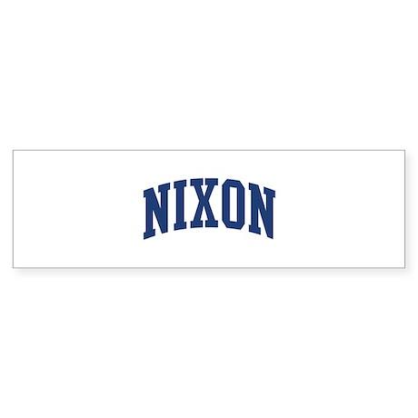 NIXON design (blue) Bumper Sticker