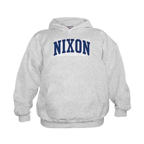 NIXON design (blue) Kids Hoodie