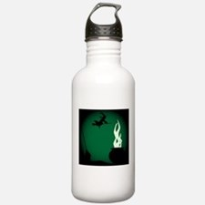 Halloween Witch Poster Water Bottle