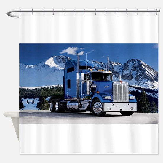 Mountain Blue Kenworth Shower Curtain