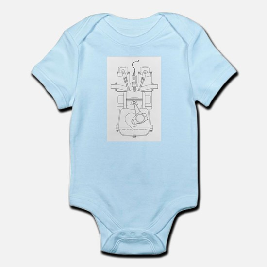 Outlind Drawing Petrol Engine Body Suit