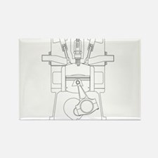 Outlind Drawing Petrol Engine Magnets