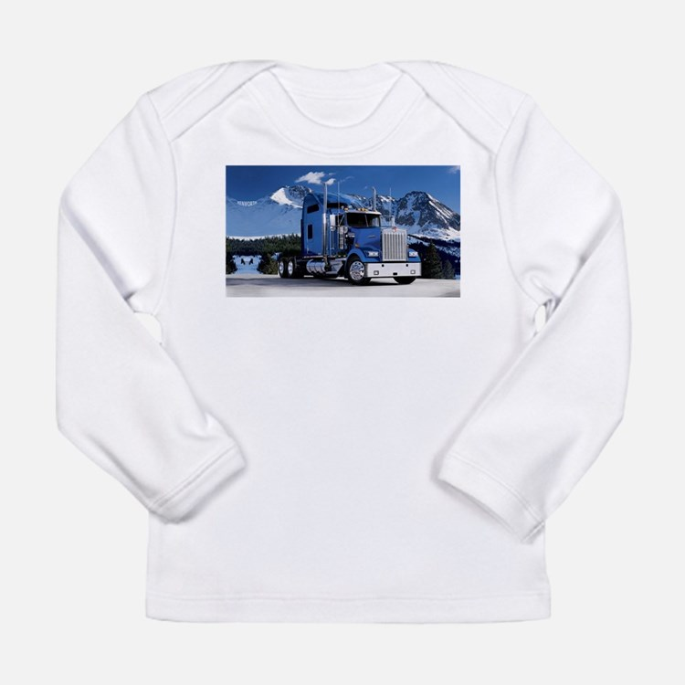 Mountain Blue Kenworth Long Sleeve T-Shirt