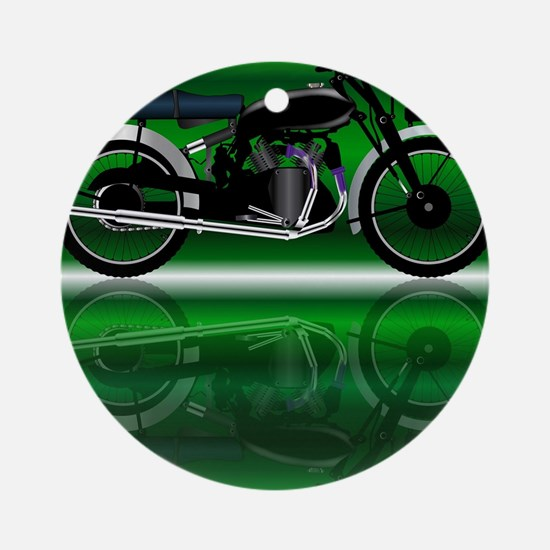 Cute Motor cycle Round Ornament