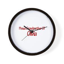 Proud Grandmother of Olivia Wall Clock