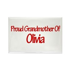 Proud Grandmother of Olivia Rectangle Magnet