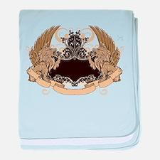 Grunge griffin emblems baby blanket