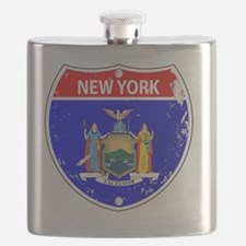 Cute New york signs Flask