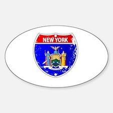 Cute White shield Sticker (Oval)