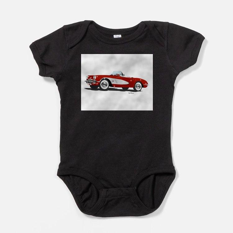 Cute Mid peninsula muscle car club Baby Bodysuit