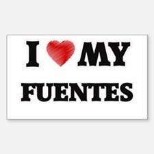 I love my Fuentes Decal