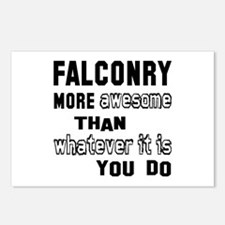 Falconry more awesome tha Postcards (Package of 8)