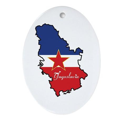 Cool Yugoslavia Oval Ornament