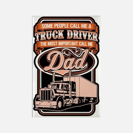 Cute Trucker Rectangle Magnet
