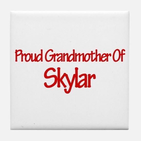 Proud Grandmother of Skylar Tile Coaster