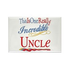 Incredible Uncle Rectangle Magnet