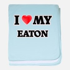 I love my Eaton baby blanket