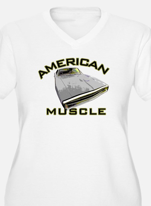 Charger_Ameri Muscle Plus Size T-Shirt