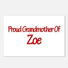 Proud Grandmother of Zoe Postcards (Package of 8)