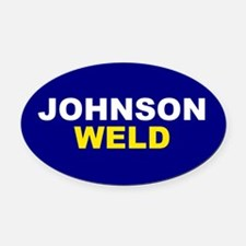 Johnson-Weld Oval Car Magnet