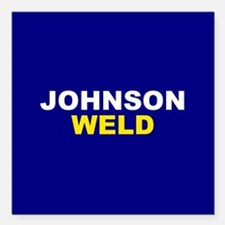 "Johnson-Weld Square Car Magnet 3"" x 3"""