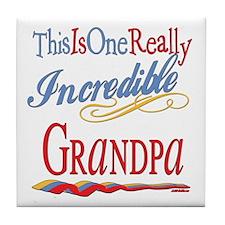 Incredible Grandpa Tile Coaster