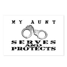 Serves & Protects Cuffs - Aunt Postcards (Package