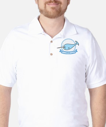 Miracles Happen - Narwhal Whale Golf Shirt