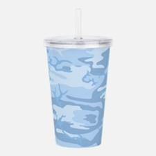 Light Blue Camouflage Acrylic Double-wall Tumbler