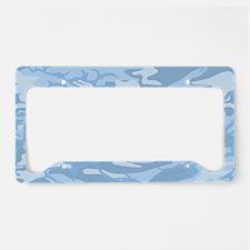 Light Blue Camouflage License Plate Holder