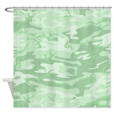 Light Green Camouflage Shower Curtain By Admin Cp10395009
