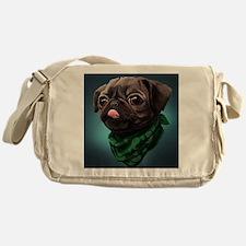 Unique Pug dog Messenger Bag