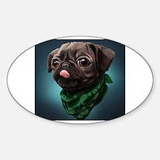 Unique Funny pug Decal
