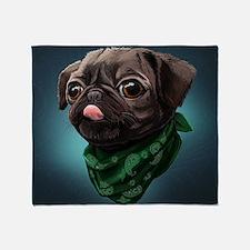 Funny Funny pug Throw Blanket