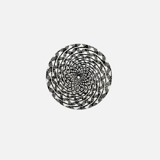 Optical illusion clip art Mini Button