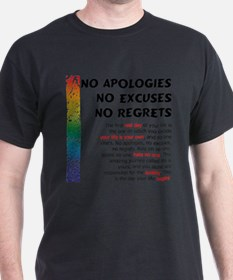 No Apologies T-Shirt
