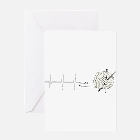 A Knitting Heart Greeting Cards