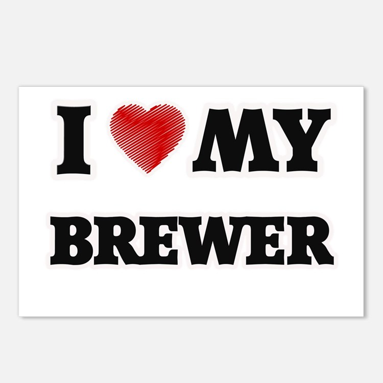 I love my Brewer Postcards (Package of 8)