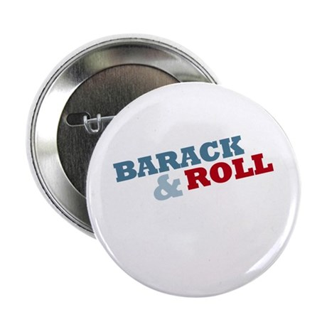 """Barack and Roll"" Red and Blue 2.25"" Button"