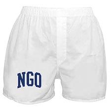 NGO design (blue) Boxer Shorts