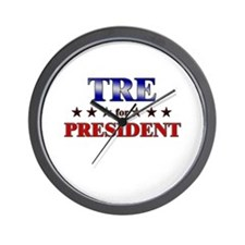 TRE for president Wall Clock