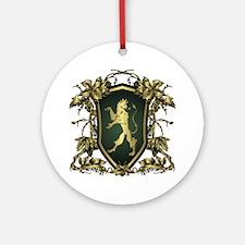 Griffin shield design Round Ornament