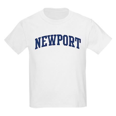 NEWPORT design (blue) Kids Light T-Shirt