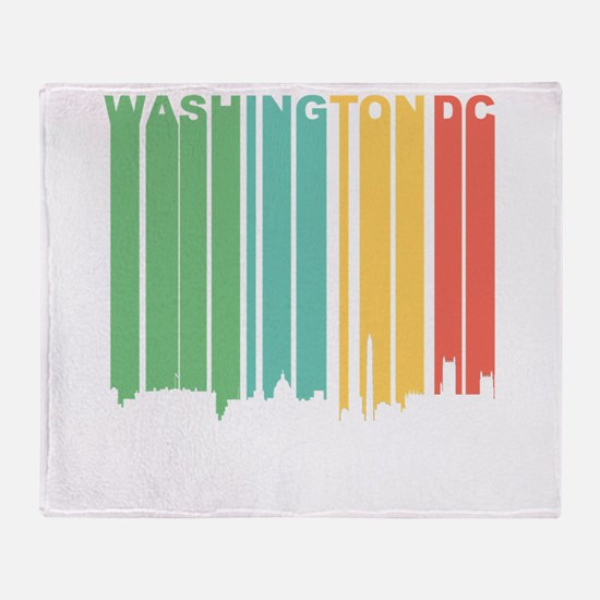 Vintage Washington DC Cityscape Throw Blanket