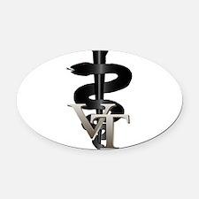 vet_tech_3.png Oval Car Magnet