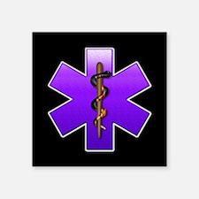 "violet_ems.png Square Sticker 3"" x 3"""