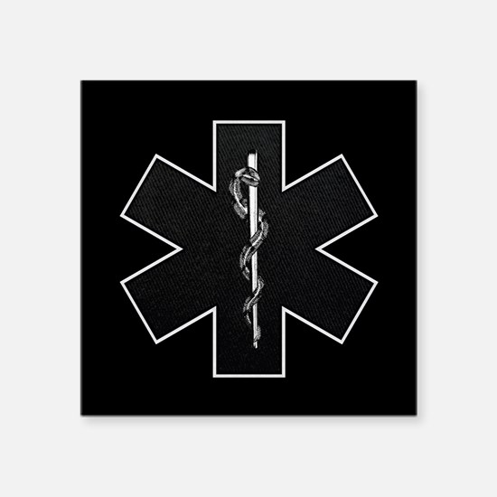 "emt_bw.png Square Sticker 3"" x 3"""